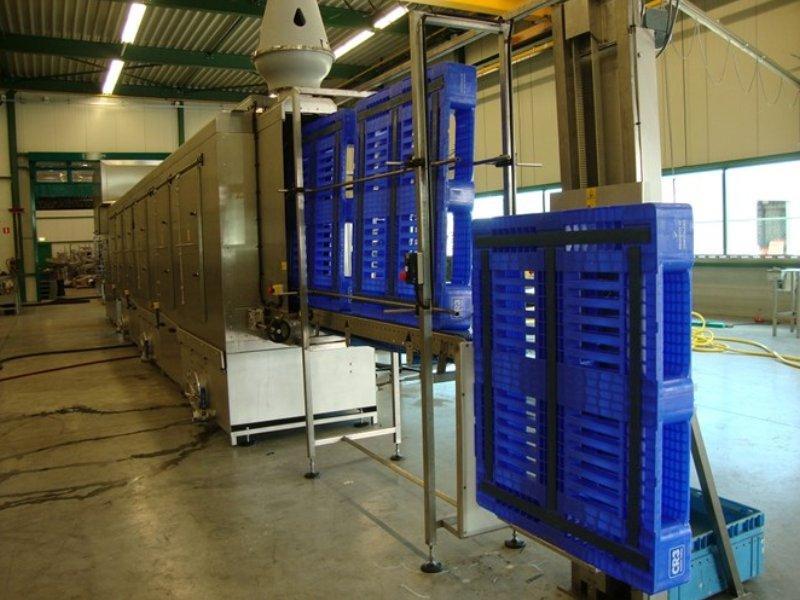 Vertical Pallet washer line